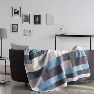 Pled MANTA albastru, 150 x 200 cm