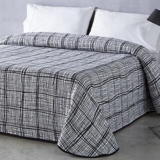 Cuvertură de pat NORMA, neagră, pat simplu