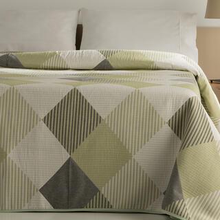 Cuvertură de pat RUBI, verde, pat simplu
