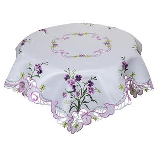 Faţă de masă brodată cu flori, 85 x 85 cm