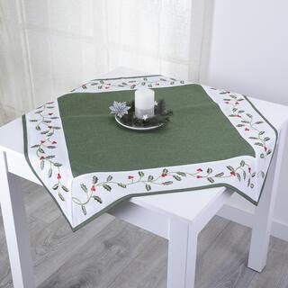 Faţă de masă cu bordură brodată, 85 x 85 cm