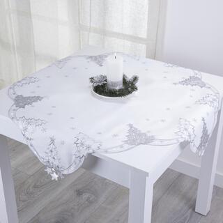 Faţă de masă cu broderie BRĂDUŢI, 85 x 85 cm