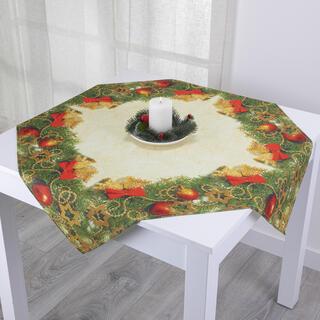 Faţă de masă cu imprimeu globuri, 85 x 85 cm