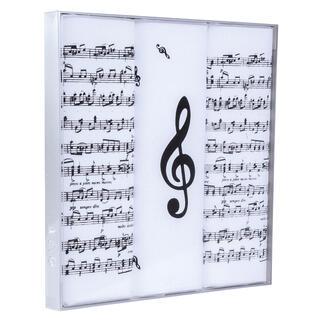 Batiste cu imprimeu NOTE muzicale, set 3 buc.