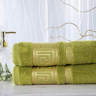 Set de 2 prosoape bambus ROMA verde, 50 x 100 cm