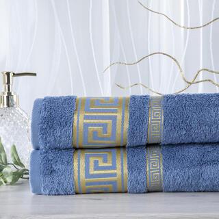 Set de 2 prosoape bambus ROMA albastru, 50 x 100 cm