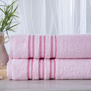 Set de 2 prosoape frotir FIRUZE roz, 50 x 100 cm