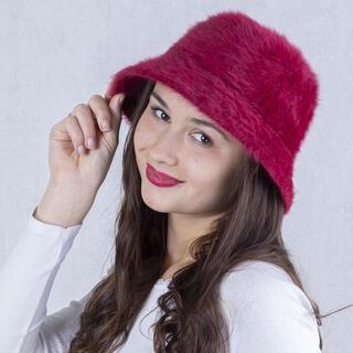 Pălărie de damă ANGORA, bordo