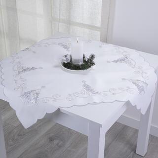 Şervet de masă BRĂDUŢ ALB, 85 x 85 cm