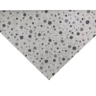 Faţă de masă LUREX gri cu steluţe, 65 x 65 cm