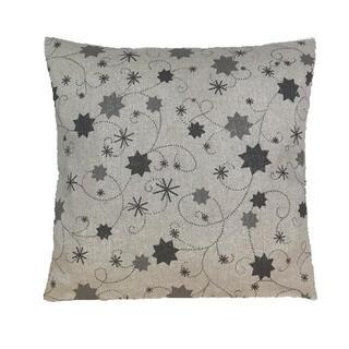 Faţă de pernă LUREX gri cu steluţe, 40 x 40 cm