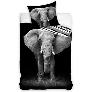 Lenjerie de pat din bumbac ELEFANT AFRICAN