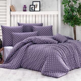 Lenjerie de pat din bumbac BRYNJAR violet