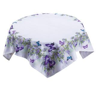 Faţă de masă FLUTURI violet, 85 x 85 cm