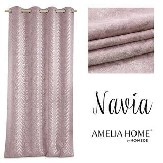 Draperie BLACKOUT NAVIA roz 140 x 250 cm