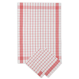 Prosoape de bucătărie din bumbac POZITIV roşii 50 x 70 cm 3 buc