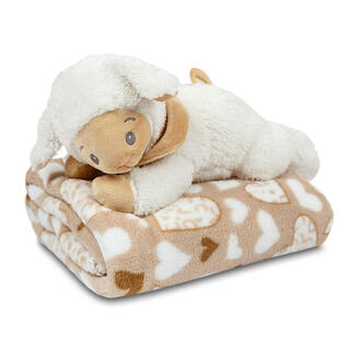 Pătură cu jucărie din pluş OIŢĂ