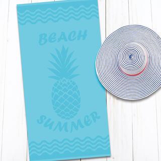 Prosop de plajă din bumbac ANANAS 80 x 160 cm