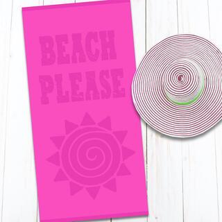 Prosop de plajă din bumbac BEACH 80 x 160 cm