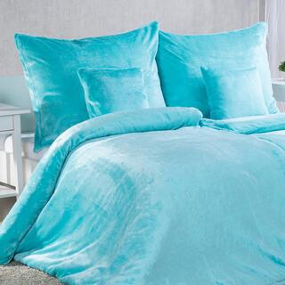 Lenjerie de pat din microflanel, turcoaz