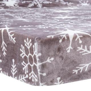 Cearceaf cu elastic din microflanel SNOWY