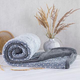Pătură cu blăniţă din microfibră POLKA, 140 x 200 cm