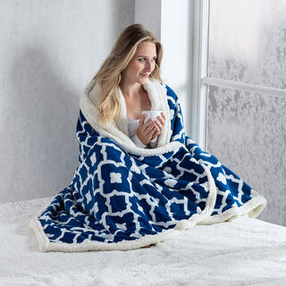 Pătură cu blăniţă din microfibră INDIGO 140 x 200 cm