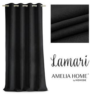 Draperie BLACKOUT LAMARI negru, 140 x 250 cm