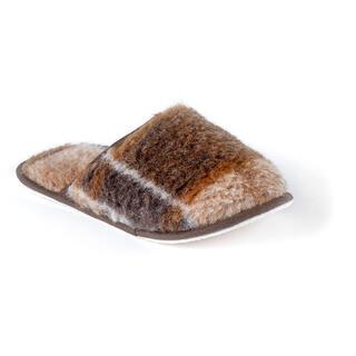 Papuci din lână, culoare închisă