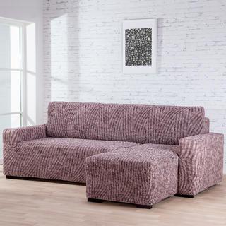Huse bielastice ROCCIA maro canapea cu otoman dreapta (l. 170 - 200 cm)
