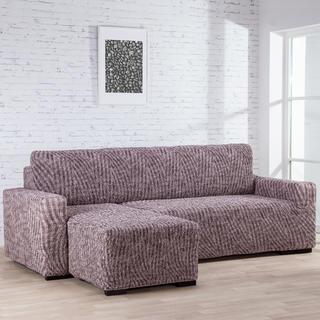 Huse bielastice ROCCIA maro canapea cu otoman stânga (l. 170 - 200 cm)