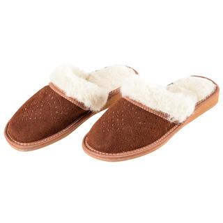 Papuci de casă de damă cu lână de oaie