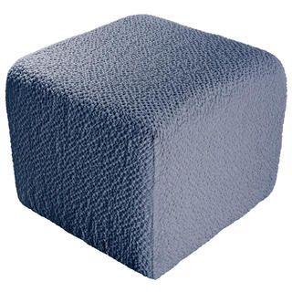 Huse bielastice BUKLÉ denim taburet (40 x 40 x 40 cm)