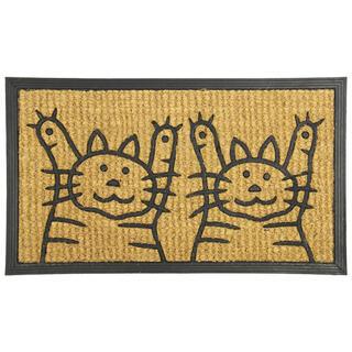 Rogojină din fibre de cocos DOUĂ PISICI, 40 x 70 cm